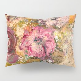 Romantic expressionistic flowers Pillow Sham
