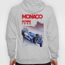 1948 Monaco Grand Prix Race Poster  Hoody