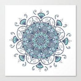 Mandala Océan By Sonia H. Canvas Print