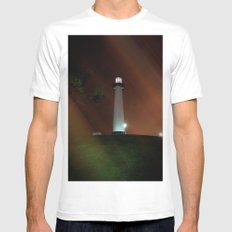 Lighthouse MEDIUM Mens Fitted Tee White
