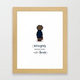 Worrying means you suffer twice - Newt Scamander Framed Art Print