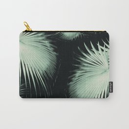 Fan Palm Leaves Paradise #3 #tropical #decor #art #society6 Carry-All Pouch