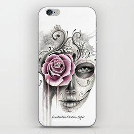 Rose Sugar Skull iPhone Skin