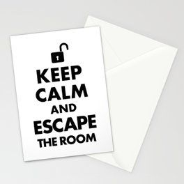 Funny Keep Calm and Escape the Room - Escape Room  Stationery Cards