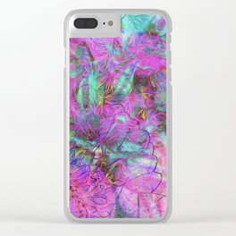 Tye-Dye Abstract Clear iPhone Case