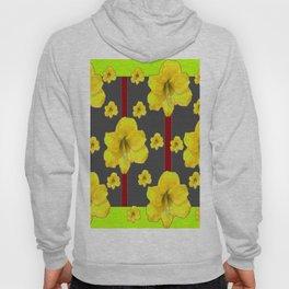 LIME-GREY YELLOW AMARYLLIS BLACK-RED DECO ART Hoody