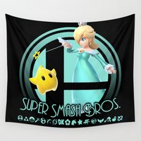 super smash bros Wall Tapestries featuring Rosalina - Super Smash Bros. by Donkey Inferno