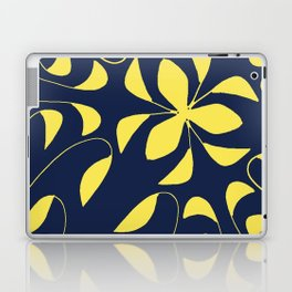 Leafy Vines Yellow and Navy Blue Laptop & iPad Skin