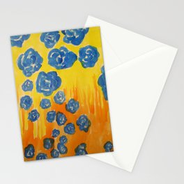 Blue Rose Fall Stationery Cards