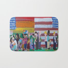 United We Stand Divided We Fall 12: Together Bath Mat