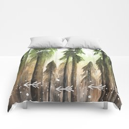 Ombre Forest Comforters
