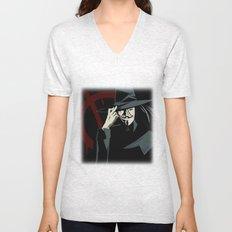 V for Vendetta (e1) Unisex V-Neck