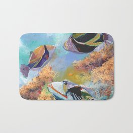 Humuhumu Tropical Fish 3 Bath Mat