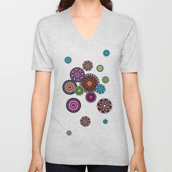 Mandala Dots Unisex V-Neck