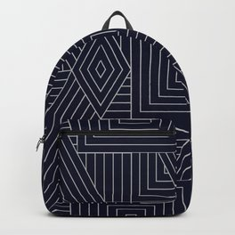 Mudcloth Indigo Backpack