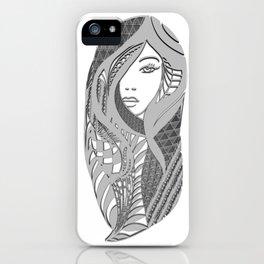 zentangle portrait 3 iPhone Case