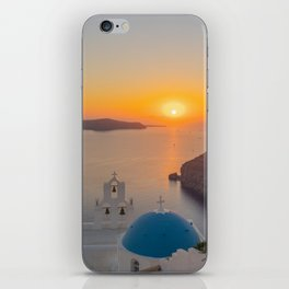 Three Bells Santorini iPhone Skin