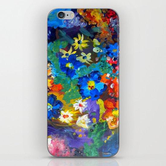 Flora Azul iPhone & iPod Skin