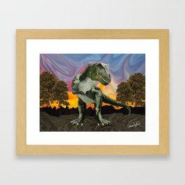 Tyrannosaurus Rex at the Twilight Hour Framed Art Print