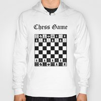 chess Hoodies featuring Chess Game by Maxvision