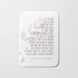 Love Never Fails 2 Bath Mat