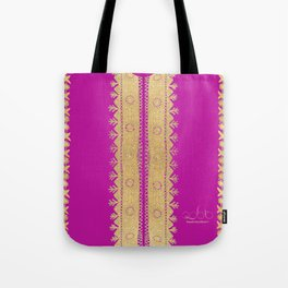 Traditional Dress - Pink  Tote Bag