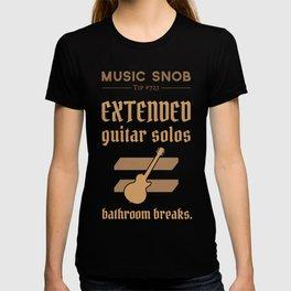 Solos = DON'T GO-s! — Music Snob Tip #723 T-shirt