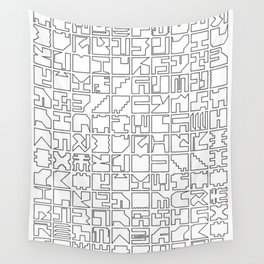 Printed Pixels Wall Tapestry