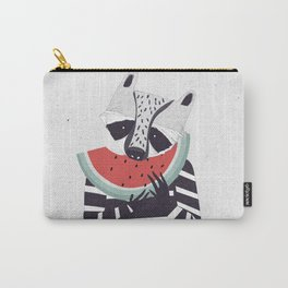 Raccoon eating watermelon Carry-All Pouch