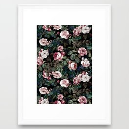 NIGHT FOREST XX Framed Art Print