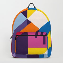 Abstract modern geometric background. Composition 9 Backpack