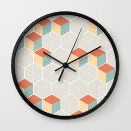 Japanese Pattern: Winter Wall Clock