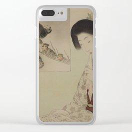 Autumn Shower by Suzuki Kason, 1904 Clear iPhone Case