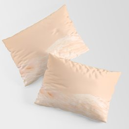 Ocean Waves Peach Pillow Sham