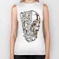 skeleton Biker Tanks featuring Skeleton by ViviRajski