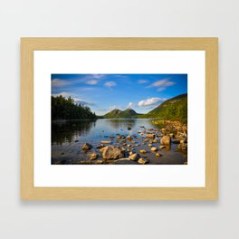 Jordan Pond In Acadia Framed Art Print