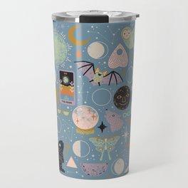 Lunar Pattern: Blue Moon Travel Mug