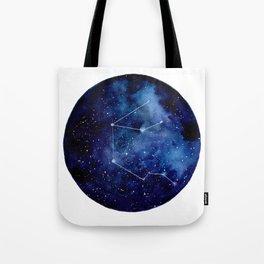 Watercolor zodiac constellation aquarius Tote Bag