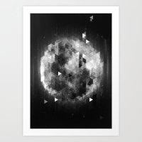 luna Art Prints featuring Luna by Elvijs Pūce