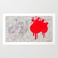tokyo gull art Art Print