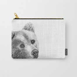 Shaggy Grizzly Bear Carry-All Pouch