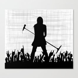 Girl With Microphone Canvas Print