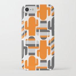 Modern striped cacti iPhone Case