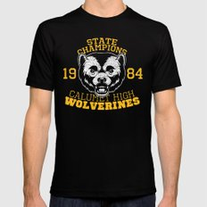 WOLVERINES! (BLUE VARIANT) Black X-LARGE Mens Fitted Tee