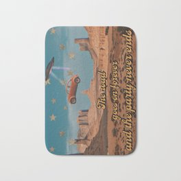 The road goes on forever Bath Mat