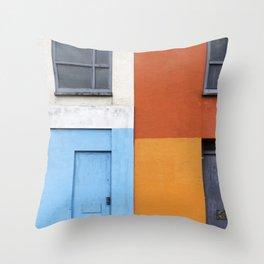 White Red Blue Orange Throw Pillow