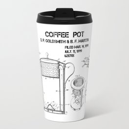 Coffee pot Goldsmith Martyn patent art 1899 Travel Mug