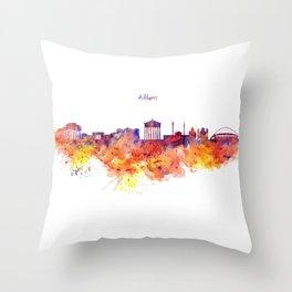 Athens Skyline Throw Pillow