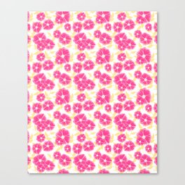 12 Sketched Mini Flowers Canvas Print