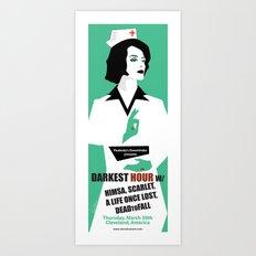 Darkest Hour gig poster Art Print